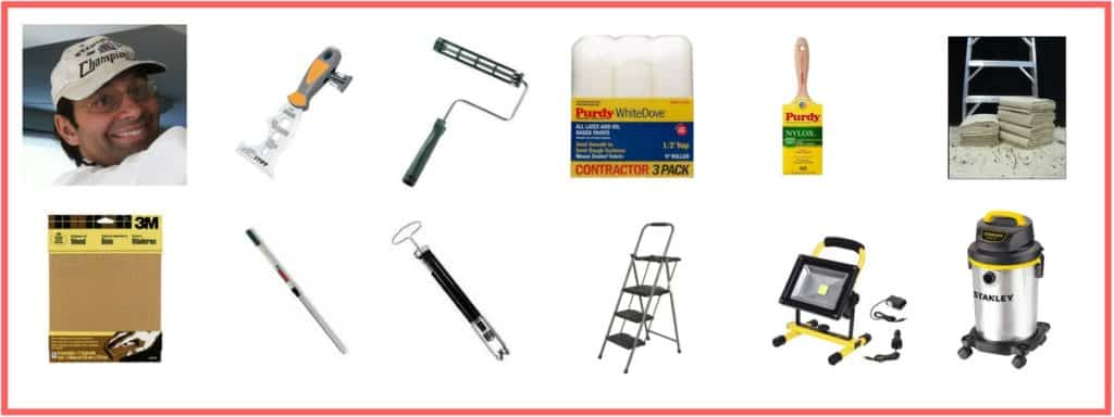 painting tools including the professional painter himself along with brush roller 5-in-1 tools
