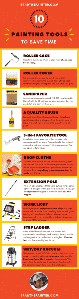 painting tools for painting a ceiling