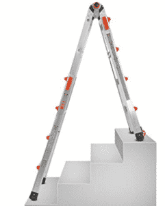 Multi-use ladder showing one configuration
