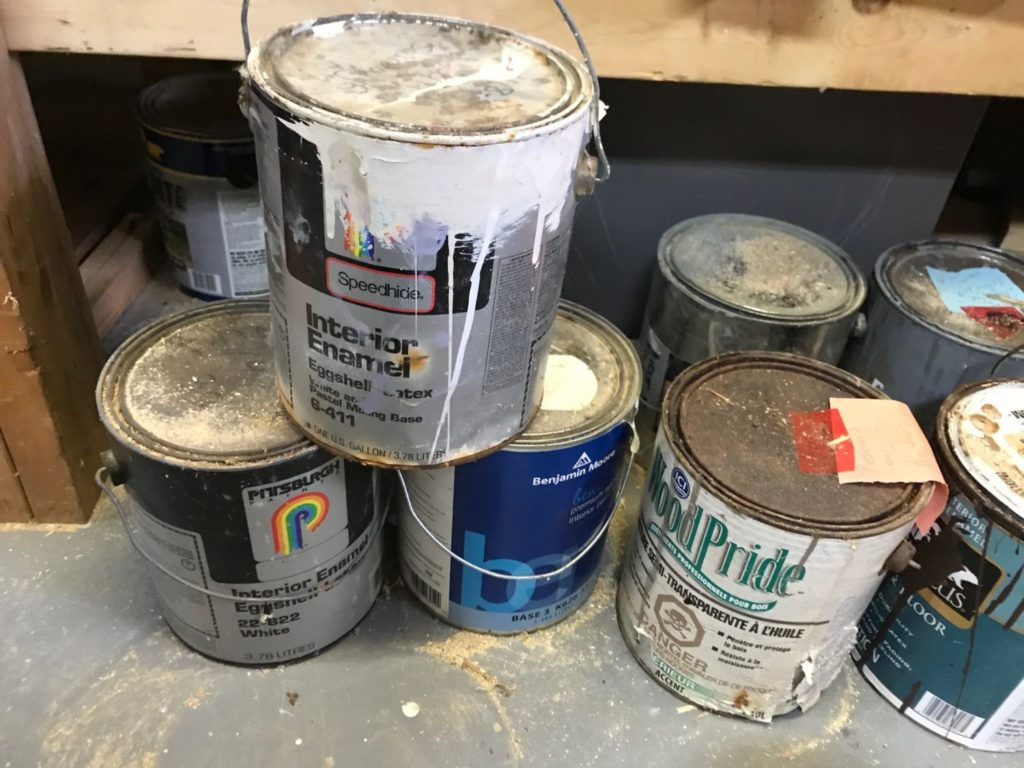 Old Paint Cans