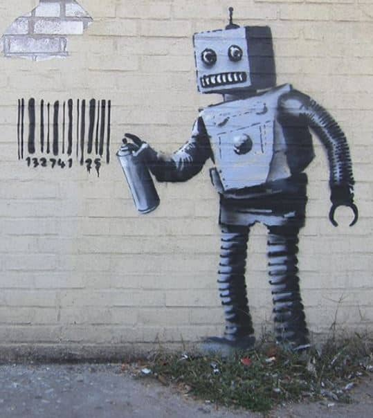 how to remove spray paint from a masterpiece by banksy: don't