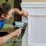 Brad nailer for small trim: a finish nailer would split this