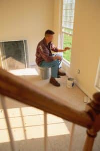 Man Painting Trim