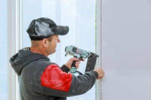 haning window with finish nailer impossible with brad nailer