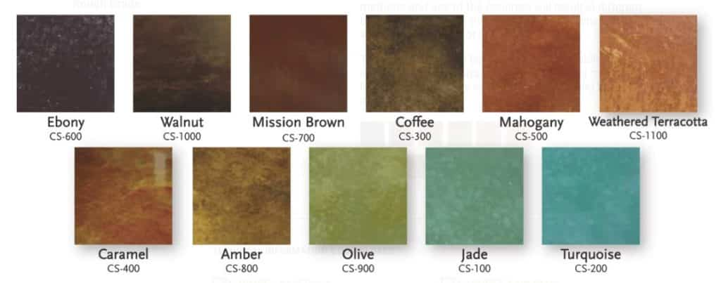 Concrete Coatings acid stain colors