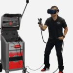 Commercial spraying trainer with virtual headset