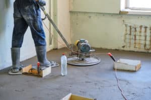 Concrete preparation- grinding before painting