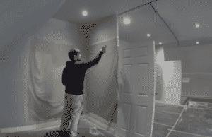interiors pro paint sprayer doing doors