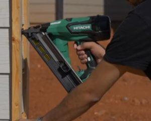 Electric Nail Gun intalling trim