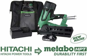 electric nail gun by hitachi now called metabo