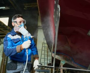 Using an HVLP spray gun for marine paint