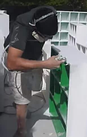Using paint sprayer