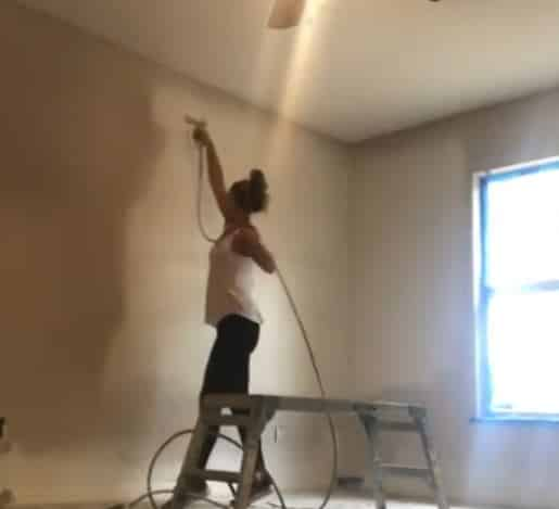 hot girl painting