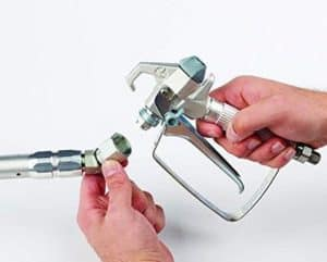 power roller sprayer accessory shows how to connect